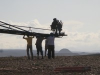 Making a film in the Moroccan desert