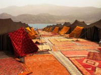 Travel Incentives: set up with Berber tents in Morocco