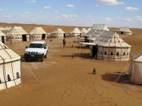 Team Building program in Morocco: desert campsite